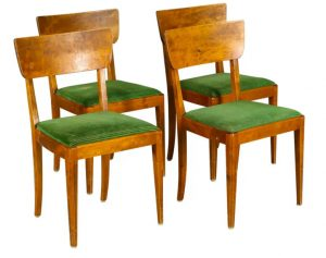 4 swedish art deco chairs