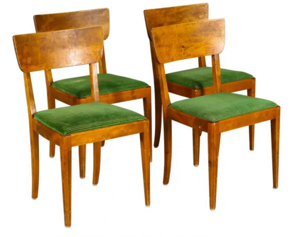 4 swedish art deco chairs