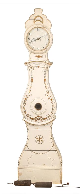 142D swedish antique mora clock