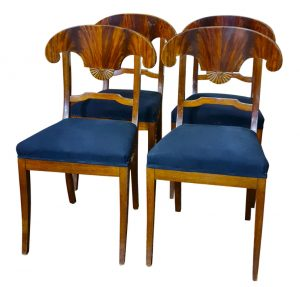 4 biedermeier dining chairs 1800s