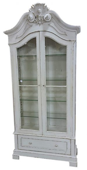 cab 93 1800s gustavian white virtine display cabinet armoire linen press