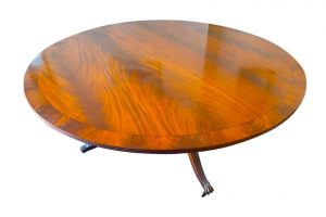 200cm round dining table yew mahogany