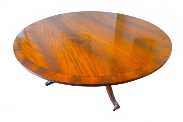 200cm round dining table yew mahogany