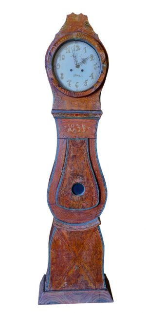 mc196 swedish antique mora clock