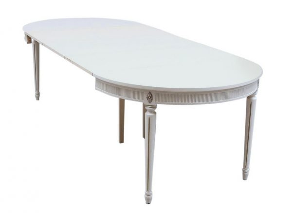 265cm extendable gustavian dining table