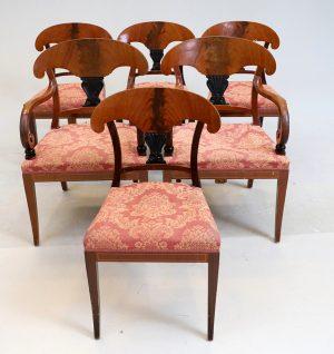set of 6 swedish dark biedermeier dining chairs antique swedish