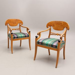 swedish biedermeier antique carver chairs