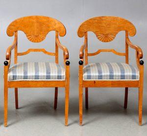 CC17 swedish biedermeier antique carver chairs