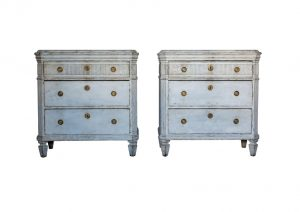 pair of swedish antique gustavian 1840 gustavian chest of drawers commode 1850
