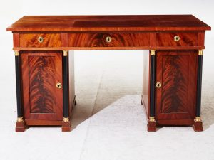 swedish biedermeier partners pedestal desk