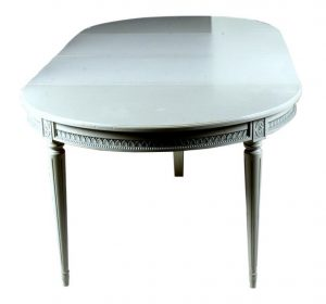 270cm vintage swedish gustavian extandable dining table