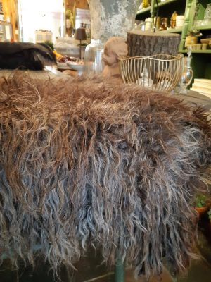 french oesant smaller felted sheep fleece