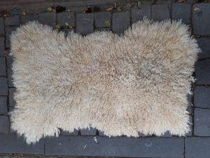 hand felted british wendsleydale long wool fleece