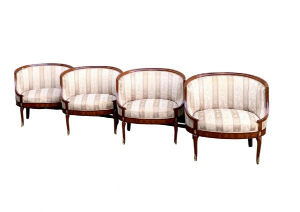 set of 4 swedish antique biedermeier armchairs